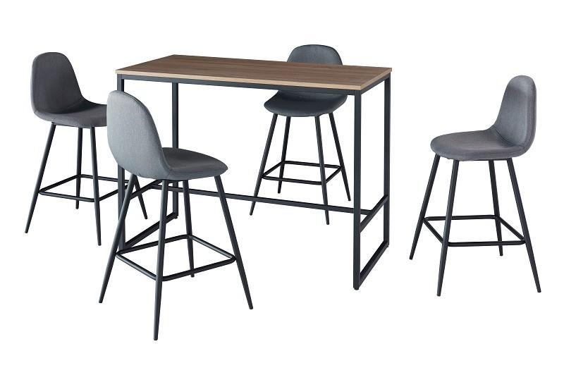 ensemble table haute et 4 chaises