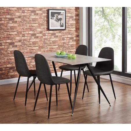 Ensemble table + 4 chaises LA GOMERA. Ce set trouvera facilement sa place dans votre intérieur.