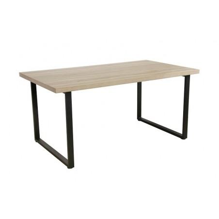 Table DAVID avec plateau en MDF et pieds en acier noir. Design type industriel pour votre intérieur