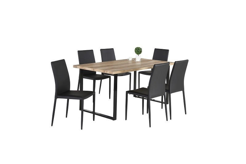 Ensemble table et chaises ensemble 1 table david 6 chaises noah n - Ensemble table chaise salle a manger ...