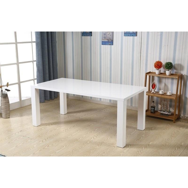 TABLE DE SALLE À MANGER Table KOS blanche laquée Version XL. Élégan...