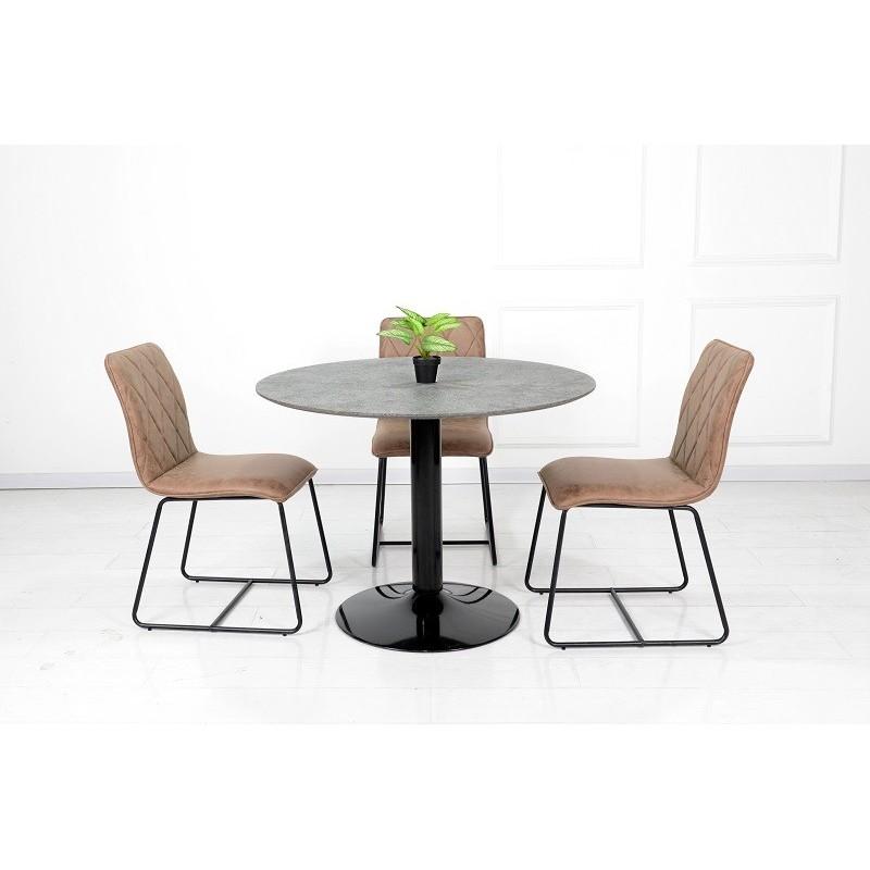 Table de salle manger table ronde avec pied central josua magnif - Table de salle a manger pied central ...