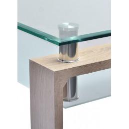 table console d 39 entr e en verre et bois amalfi look moderne et de. Black Bedroom Furniture Sets. Home Design Ideas