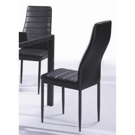 Chaises LYON II chic et design. Le confort idéal avec son dossier haut et son assise mousse. Lot de 6