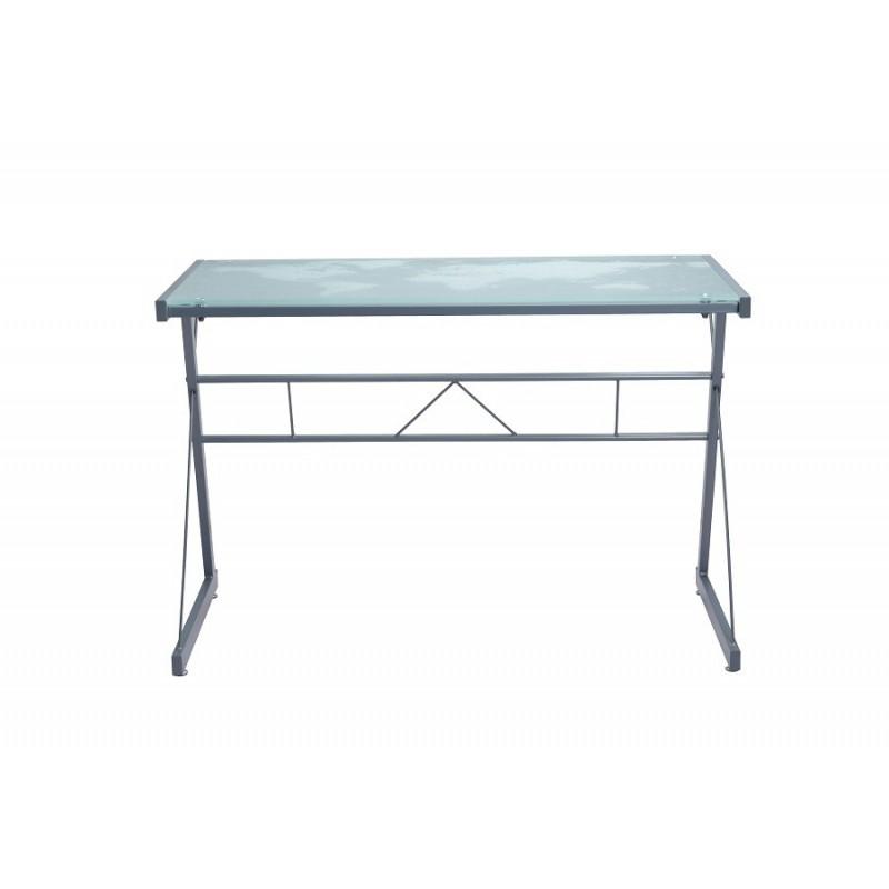 bureau design pavia plateau en verre tremp s rigraphi et pieds m. Black Bedroom Furniture Sets. Home Design Ideas