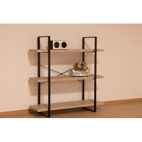 tag re shelves type industrielle bois et m tal 3 niveaux 119 00. Black Bedroom Furniture Sets. Home Design Ideas