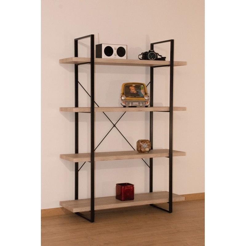 tag re shelves type industrielle bois et m tal 4 niveaux 149 00. Black Bedroom Furniture Sets. Home Design Ideas