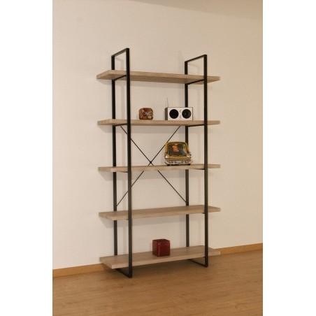 Étagère 5 Niveaux type industrielle bois et métal de la collection SHELVES.