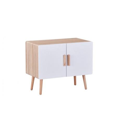 commode r tro design sintra coloris ch ne blanc h tre 169 00. Black Bedroom Furniture Sets. Home Design Ideas