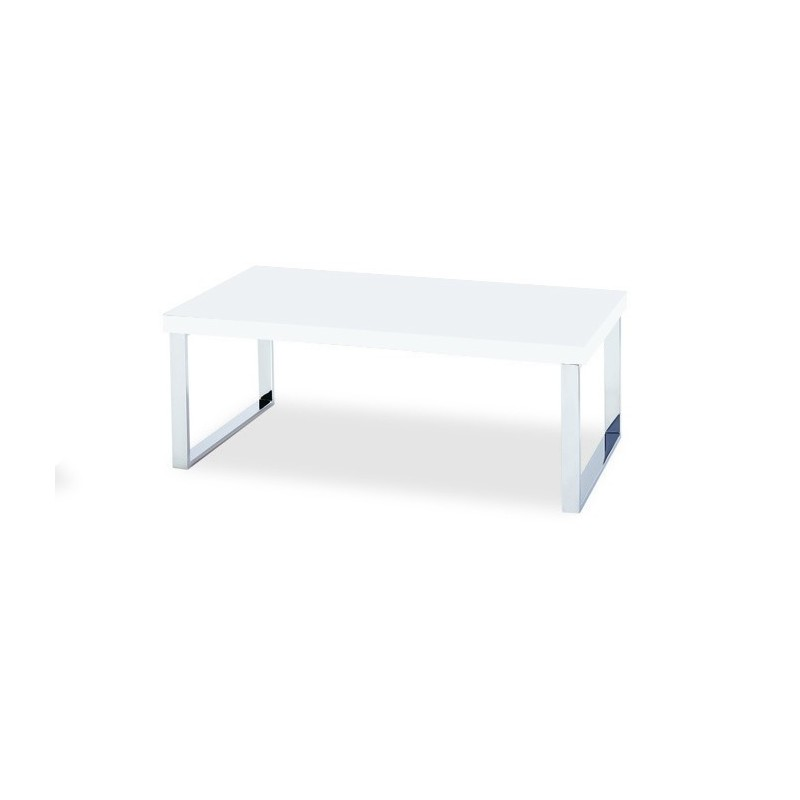 Table Basse Rectangulaire Blanche.Price Factory