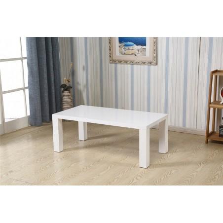 Table basse ITANOS rectangulaire 120 cm en MDF coloris blanc