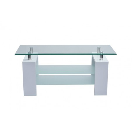 table basse pisa rectangulaire design plateau en verre doubles so. Black Bedroom Furniture Sets. Home Design Ideas