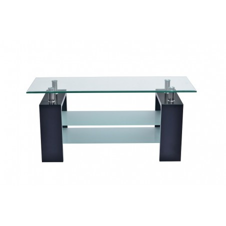 table basse siena rectangulaire design plateau en verre doubles s. Black Bedroom Furniture Sets. Home Design Ideas