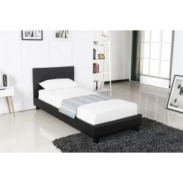 Lit design noir ABEL 90x200...
