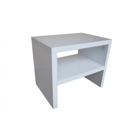 Table de Chevet PERTH design,coloris blanc.