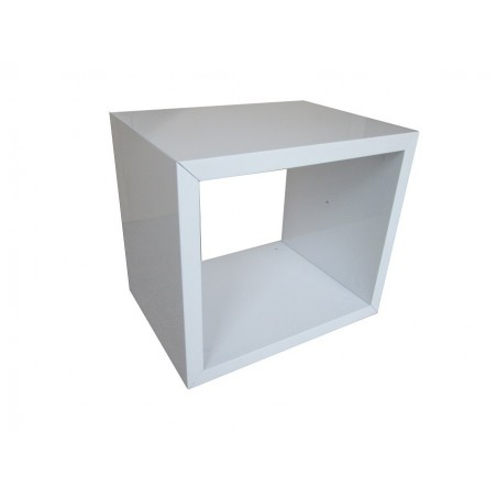 Table de Chevet HAMILTON design,coloris blanc.