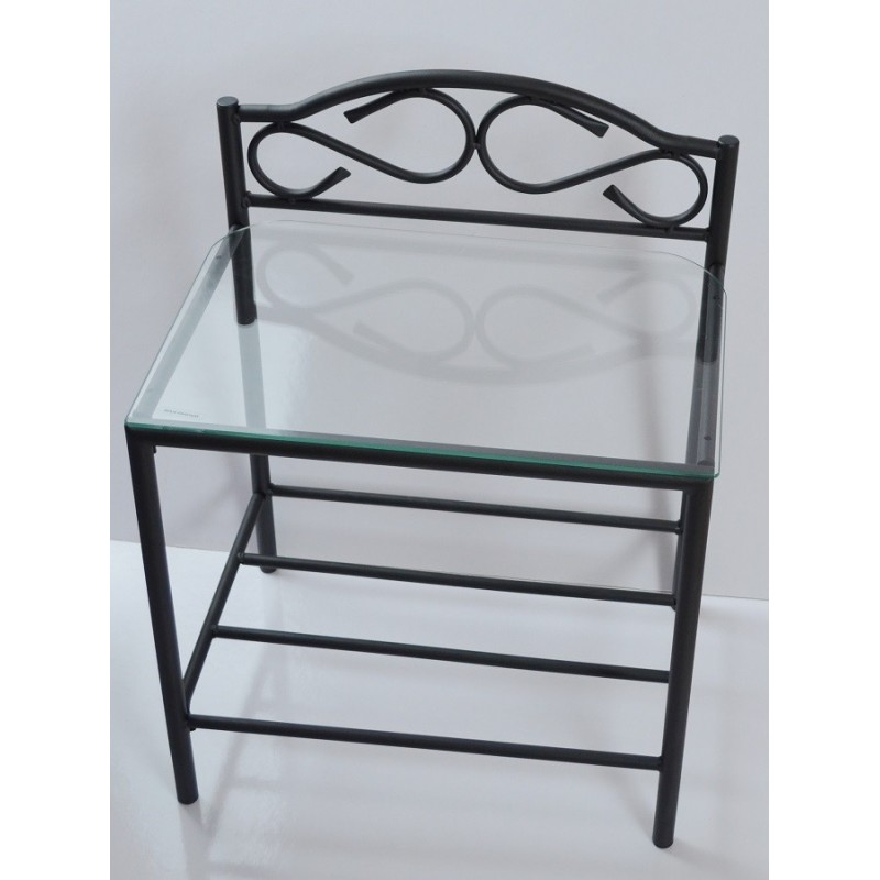 Table de chevet table de chevet shelbyville design en - Table de chevet fer forge ...
