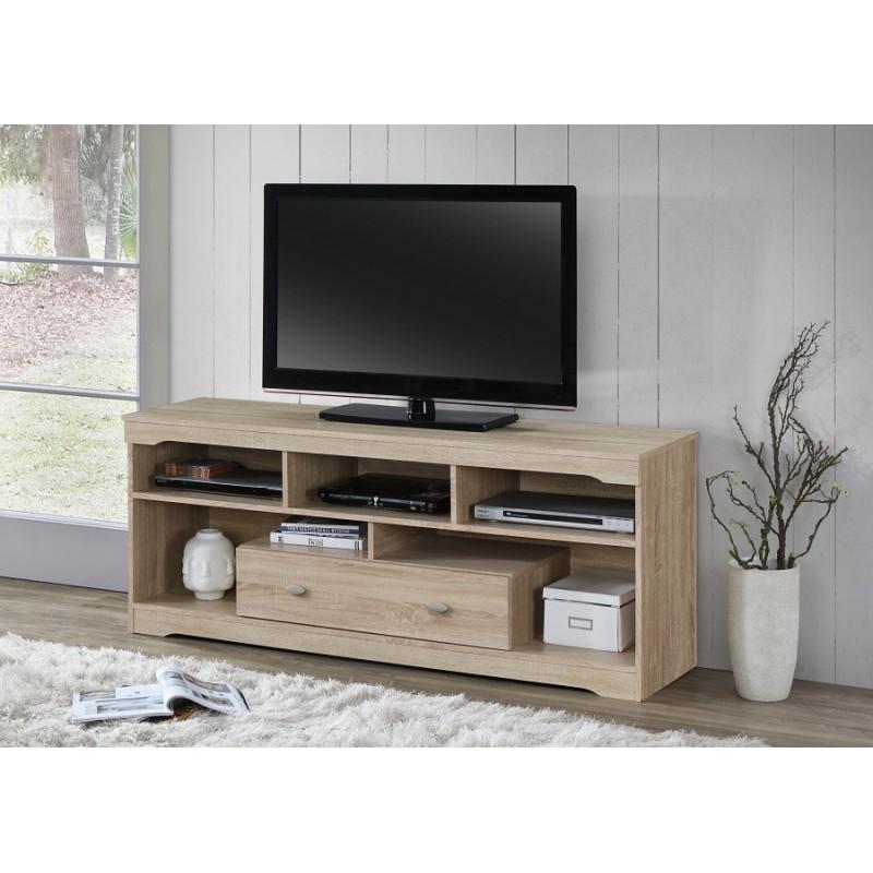 Meuble Tv Hifi Meuble Tv Mersin 150 Cm A 1 Tiroir Et 5 Niches Color