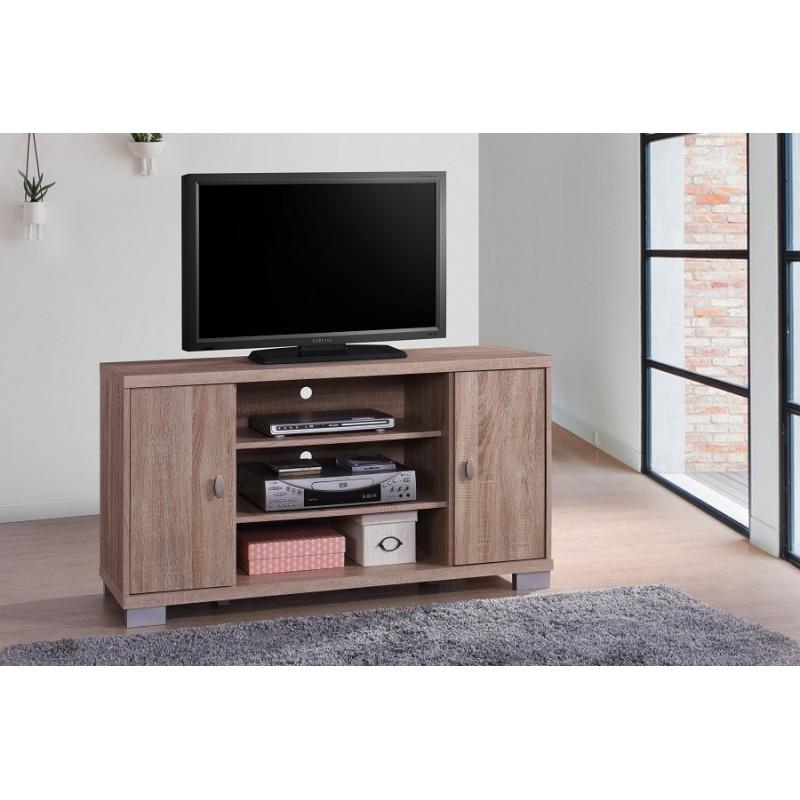 Meubles Et Decorations Meuble Tv Belek 120 Cm A 2 Portes Et 3 Nic