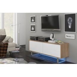 Meuble TV design, 140 cm, 2...