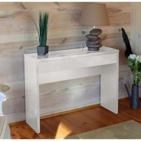 Meuble d'entrée, console ARENA coloris blanc. Meuble design pour votre entrée