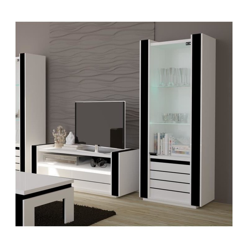 ensemble pour votre salon lina meuble tv hifi vitrine petit mod. Black Bedroom Furniture Sets. Home Design Ideas