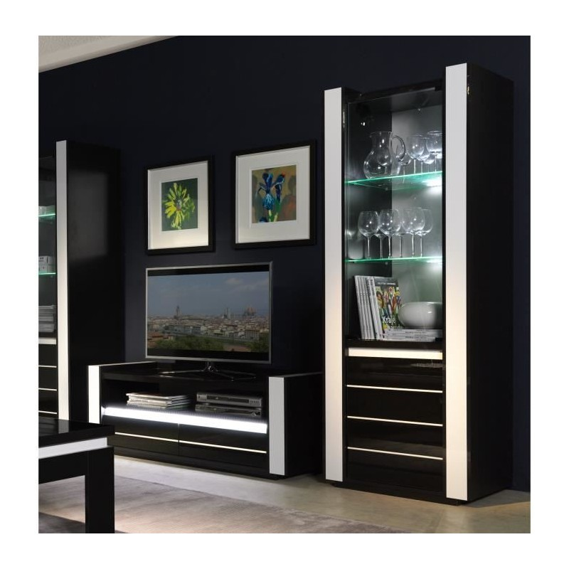 salon ensemble pour votre salon lina meuble tv hifi vitrine peti. Black Bedroom Furniture Sets. Home Design Ideas