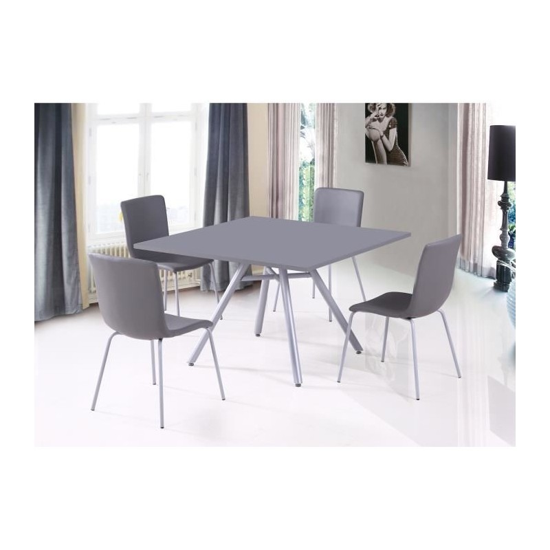set ensemble table et 4 chaises texas gris id al pour. Black Bedroom Furniture Sets. Home Design Ideas