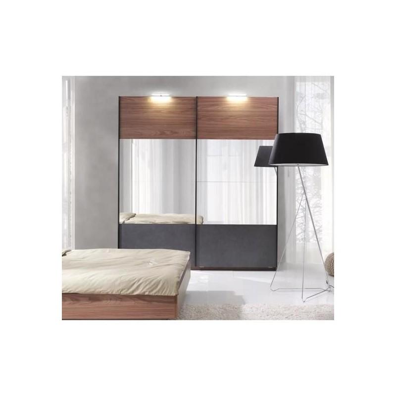 Meubles et décorations - Armoire RENATO 2 portes coulissantes avec ...