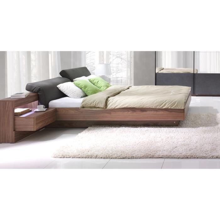 chambre coucher renato lit sommier tables de chevet int gr es. Black Bedroom Furniture Sets. Home Design Ideas