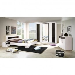 Ensemble pour chambre à coucher DUBLIN. Lit 140x190 cm + commode + chevets. Set moderne et design. Quantité limitée