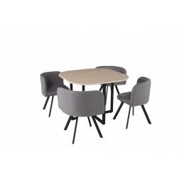 Table carré + 4 chaises de...