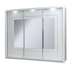 Armoire 3 portes coulissantes PANAREA. Miroirs LED