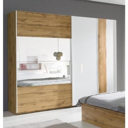 Armoire, garde robe WOOD deux portes coulissantes 200 cm.