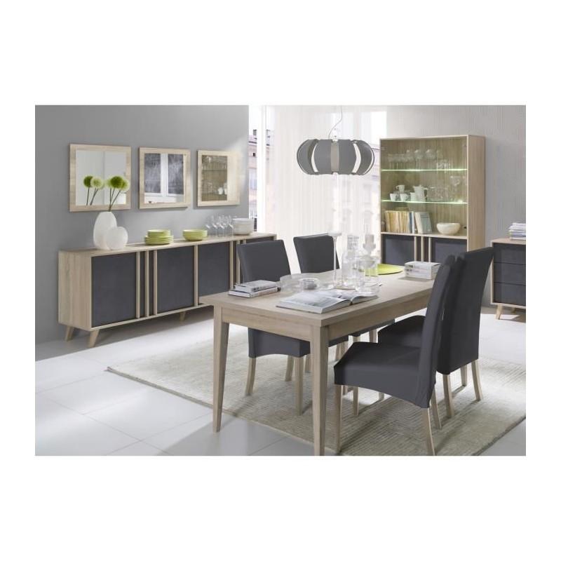 salle manger compl te malmo buffet bahut vaisselier 3 x mir. Black Bedroom Furniture Sets. Home Design Ideas