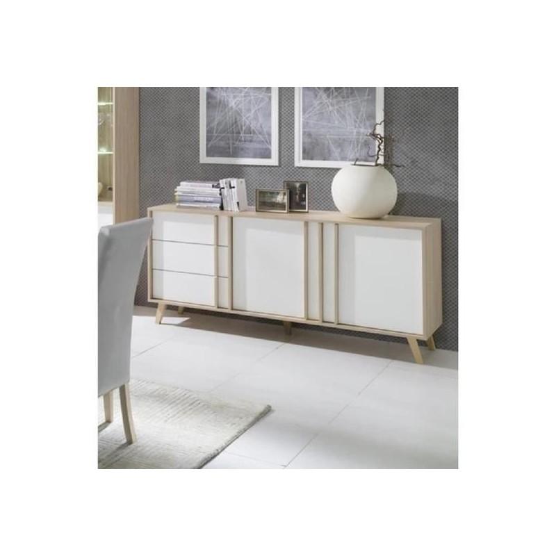 Buffet Enfilade Bahut Moyen Modele Malmo Blanc Meuble Design Typ