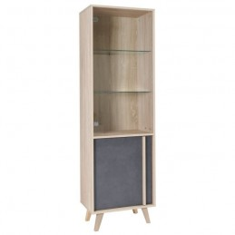 vitrine biblioth que vaisselier malmo petit mod le led meuble. Black Bedroom Furniture Sets. Home Design Ideas