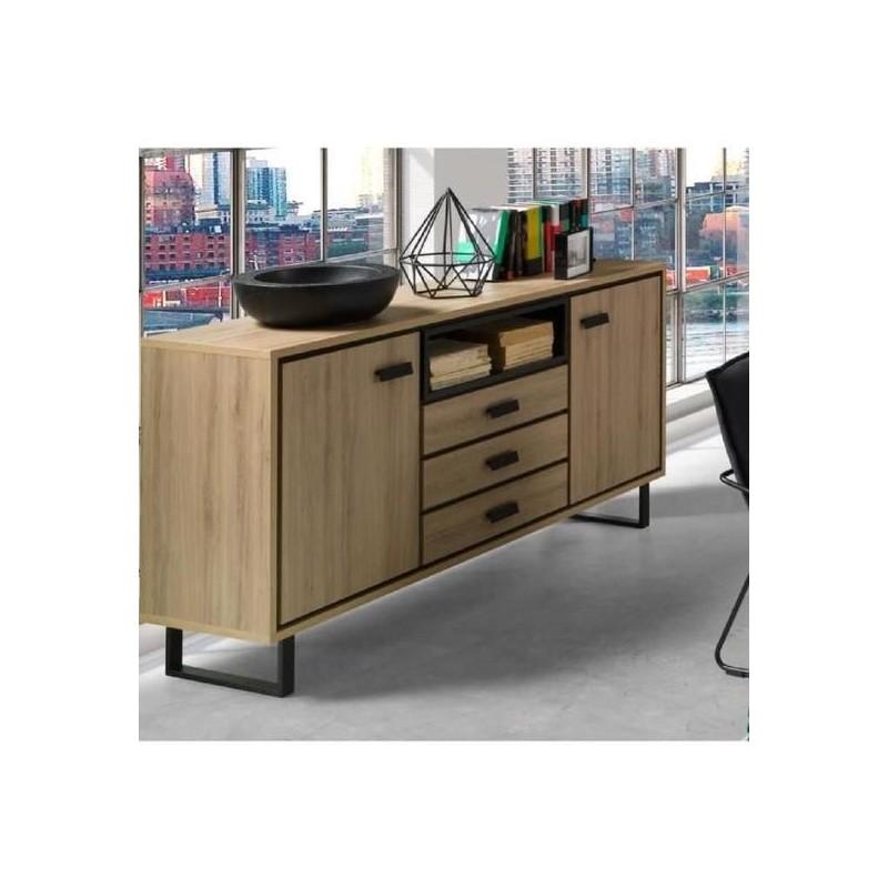 buffet bahut enfilade moyen mod le solo deux portes trois tiroir. Black Bedroom Furniture Sets. Home Design Ideas
