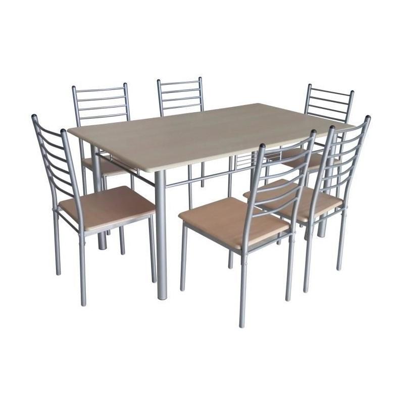 Table de cuisine salle à manger + 6 chaises ELLA