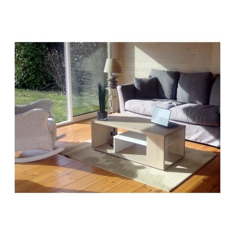 TABLE BASSE Table basse MELINA. Meuble moderne et tendance couleur ...