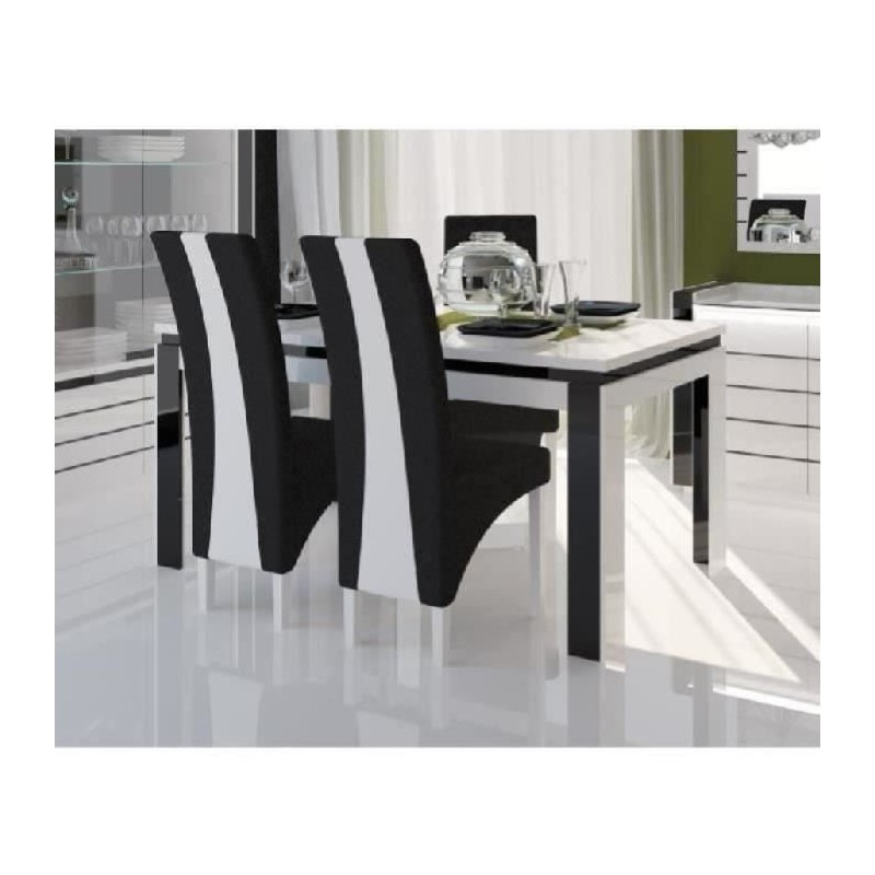 Table 160 cm 4 chaises lina table pour salle manger - Table de salle a manger avec chaises ...
