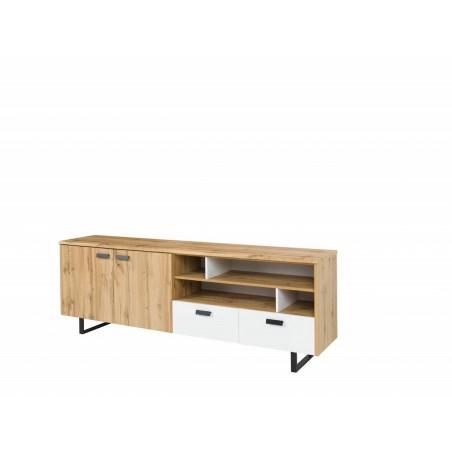 Buffet, bahut, enfilade grand modèle OAK. Meuble design et tendance pour votre salon ou salle à manger. Design type industriel