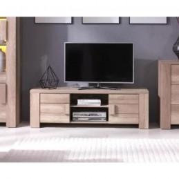 Meuble tv design couleur chêne FERRARA