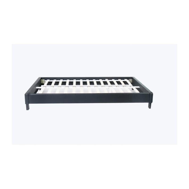 lit deux places bedbase structure de lit pour chambre. Black Bedroom Furniture Sets. Home Design Ideas