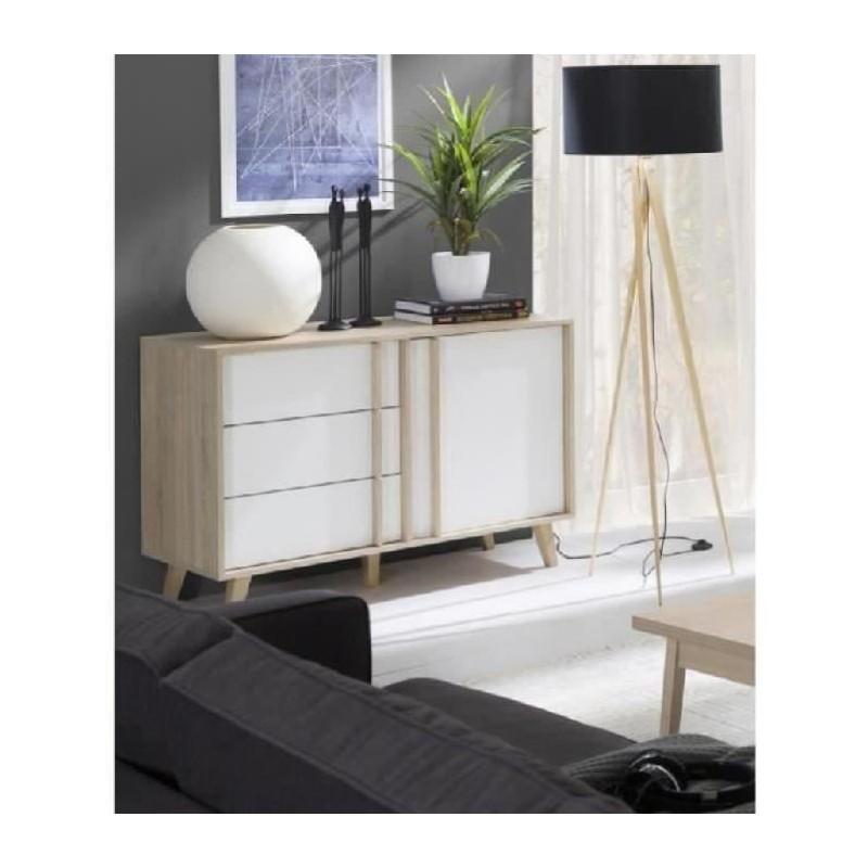 buffet enfilade bahut petit modle malmo meuble design type scandinave - Meuble Enfilade Scandinave