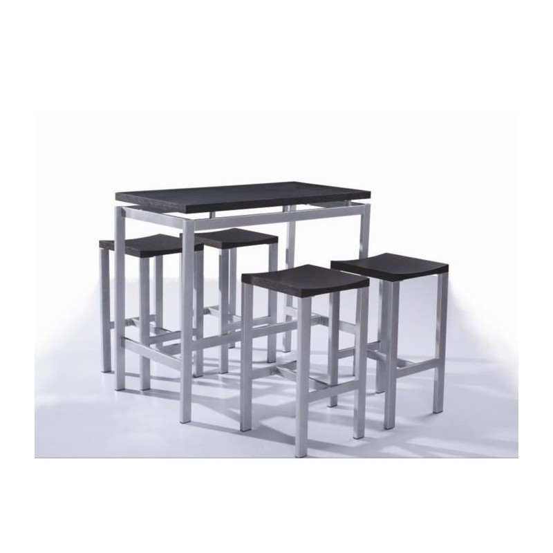 ensemble set de table design real table haute 4 tabourets ense. Black Bedroom Furniture Sets. Home Design Ideas