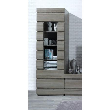 Vitrine 1 porte petit modèle de la collection DUCAL. Meuble design et tendance pour votre salon.