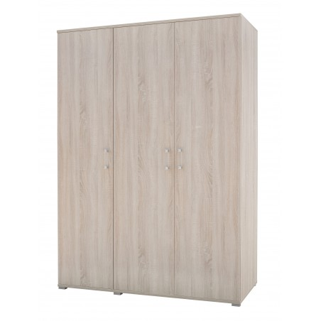 Armoire, garde robe, dressing DUNDEE pour chambre à coucher. Composée de 3 portes avec penderie et étagères.