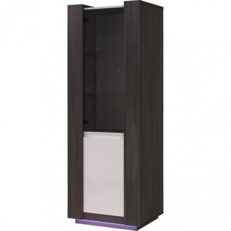 Vitrine petit modèle, bibliothèque AUGUSTO + LED. Idéal pour votre salon ou votre salle à manger.