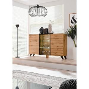 Buffet, bahut modèle TINO + LED. Meuble type scandinave. Enfilade design pour votre salon ou salle à manger.